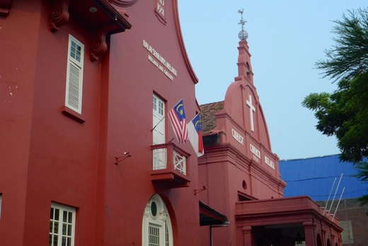 Malakka Red Buildings